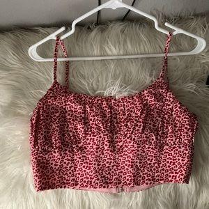 pink cheetah print crop top